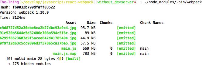 Starten von Webpack